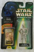 STAR WARS POWER OF THE FORCE C-3PO W/ REMOVABLE ARM & EPISODE I FLASHBACK PHOTO