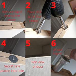 Secret Diversion Door Safe Hidden Stash safe Home Office Security Secret Stash