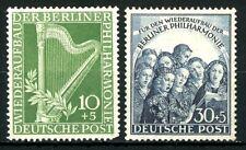 Berlin 1950 Berlin Philharmonic Orchestra MH Semi-Postals Sc 9NB4 to 9NB5