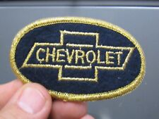 """VTG Chevrolet Patch Sew On 3 3/8"""" by 2 """" black sparkle gold thread shiny bow tie"""