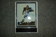 Gale Sayers Autographed Plaque - estimated value = $ 400 - $ 500