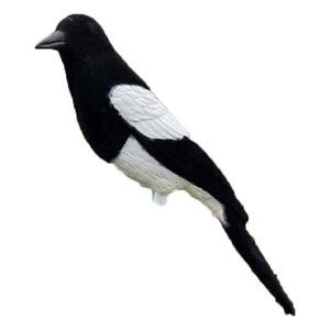 Magpie Flocked Decoy Larsen Trap Bird Decoying Shooting Fake Bird with Peg