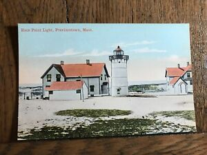 Race Point Light Provincetown Massachusetts Postcard View 1