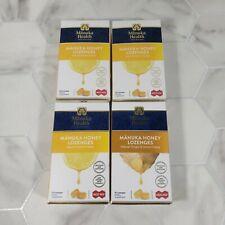 4/Lot Manuka Health Honey Lozenges 15 Ct. Lemon Ginger MGO 400+ New Zealand