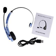 Trucker over the Head Wireless Bluetooth boom Mic Headset Headphones Earphones