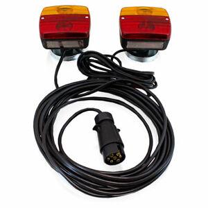 BITUXX PKW Anhänger Rückleuchten Beleuchtungs Set 7 polig mit Magnet