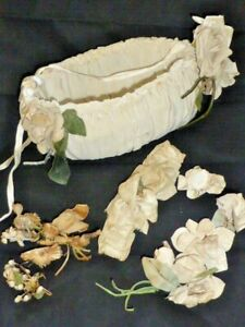 Rare Antique Wedding Garter & Flower Girl Basket, c1930