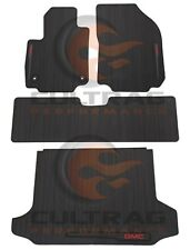2018 2019 Terrain Genuine GM Front & Rear & Cargo All Weather Floor Mats Black