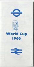 London Transport World Cup 1966 Underground Tube Map
