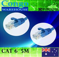 5m Premium Cat6 RJ45 Ethernet LAN Network Cable Cord Lead 10/100/1000  Blue