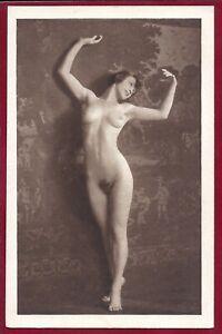 1920 Antique Art Deco Risque Photo Heliogravure~Perfect Body Flapper Perky Pinup