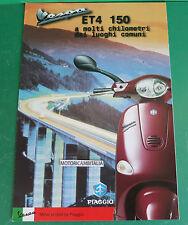 PIAGGIO VESPA scooter ET4 150 PUBBLICITA DEPLIANT BROCHURE LEAFLET CATALOGUE
