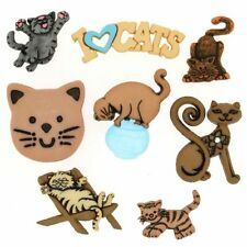 Jesse James Dress It Up  Buttons Feline Fancy Cats # 371 Sewing Crafts
