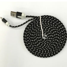 3/6/10ft Flat Braided USB Lightning Cable Data Cord For iPhone 6 6s 7 8 Plus X d