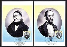 DDR 3256/7 Maximumkarten Alfed Edmund und Christian Ludwig Brehm