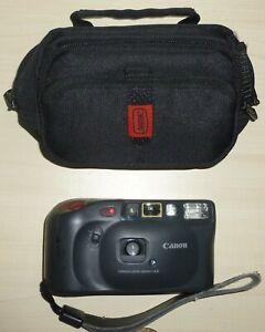 Canon Sure Shot EX Date 35mm Film Camera black cased