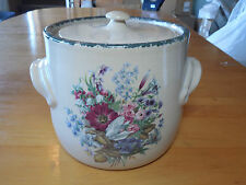 Home & Garden Party USA FLORAL 2001 Bean Pot Handled w Lid