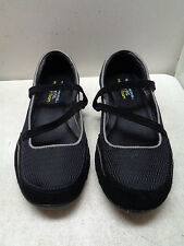 WOMEN'S SKECHERS BLACK MARY JANE SHOES SUEDE LEATHER & TEXTILE SIZE 8