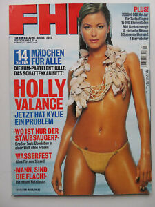 FHM 8/2002, Holly Valance, Eva Habermann, Johnny Cash, Willem Dafoe,Pauline Rubo