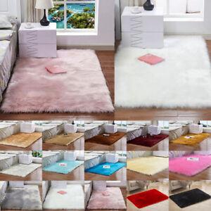 Anti-Skid Shaggy Area Large Fluffy Rug Bedroom Carpet Living Room Home Floor Mat