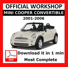 >> OFFICIAL WORKSHOP Manual Service Repair Mini Cooper Convertible 2001 - 2006
