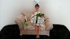 """Barbie Set salle de bain Inc Serviettes, Pantoufles, Unique/Diorama/11-12"""" doll"""