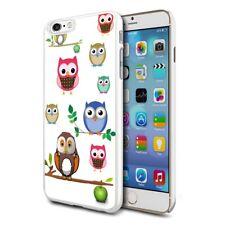 For Various Phones Design Hard Back Case Cover Skin - Owls