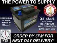 063 CAR BATTERY O.E.M. QUALITY 12V EXTRA HEAVY DUTY100% MAINTENANCE FREE 24HRDEL