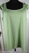 Nomadic Traders Green Rayon Blend Knit Tank Top Size XL NWT