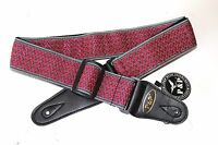 Embroidered retro vintage-look cloth guitar strap for electric & acousic guitars
