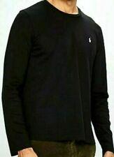 Mens Polo Ralph Lauren Long Sleeve Custom Fit Shirt. T-Shirt. black SIZE L