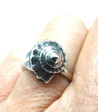 RARE! Retired Gorgeous 3-D  Seashell Ring by James Avery in Original JA Box