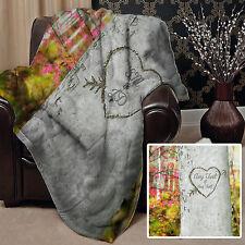 Día de San Valentín Regalo Personalizado Árbol Tallado Diseño Manta Polar Suave