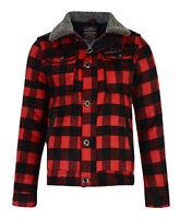 Ringspun New Men's Padded Sherpa Lined Lumberjack Check Shirt Fort Red Black
