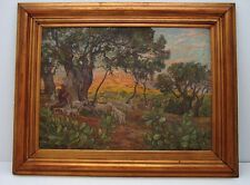 "Oil n Canvas Oil Painting Danish Artist Carl Budtz-Moller "" Giunone "" Dated 1928"