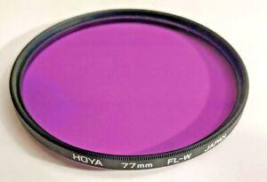 Genuine Hoya 77mm FL-W FLW FL W Fluorescent Glass Lens Filter Japan 77 mm