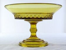 Antique Bryce Brothers SPIREA BAND Amber Glass Open Compote Pittsburgh Style