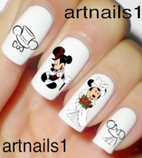 Disney Nails Wedding Mickey Minnie Nail Art Water Decals Stickers Salon Polish