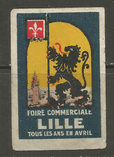 France/Lille Trade Fair poster stamp/label