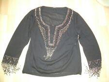Ladies Escada Black Embellished Top Size 40.