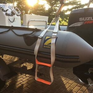 Rib Step Inflatable Boat Boarding Ladder Dinghy WHITE water ski, wakeboard