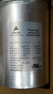 New box of  6 Epcos Power Factor Correction Capacitors  10kvar@60hz