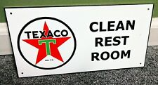 Texaco Clean Rest Room Gas Oil Sign.Free shipping on 10 signs