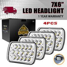4pcs 45W 7X6'' Led Headlight Hi-Lo Beam For Jeep Yj H6054 Headlight