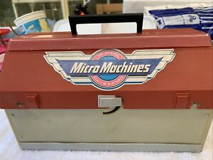 Micro Machines Galoob 1988 Super City Tool Box Set With 4 Vehicles Cars