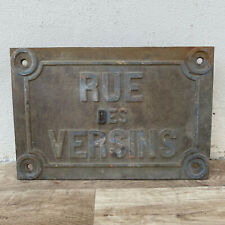 French Cast iron road street sign plaque antique 19th century VERSINS 26042010