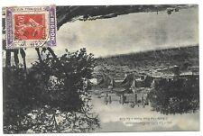 SEMEUSE 10C PORTE TIMBRE 10C ROUGE VIN MIGNON CARTE GARE DE BEZIER 1908 RARE