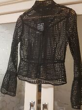 "Cooper St ""Don't Let Go"" mesh black jacket bell sleeve size 10 Races"