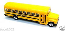 Large Diecast School Bus with Pullback Action, Stop Sign, and opening Doors