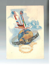 1951 Salzburg Austria Postcard Cover to France Festspiel # 575